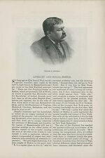 1881 Literary & Social Life in Boston Massachusetts Writers Authors Clubs