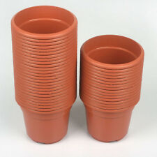 14'' Round Plastic Flower Pot- Set Of 4