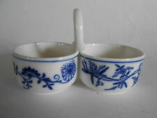Meissen~BLUE ONION CROSSED SWORDS DOUBLE SALT~First Quality-b