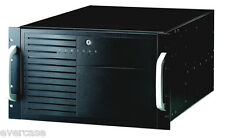 6U 19inch ATX Rackmount Chassis. For Large Boards. Black ECR9600B Dual 300W PSU