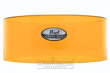 Pearl Crystal Beat Acrylic Free Floating Snare Shell 14x6.5 Tangerine Glass