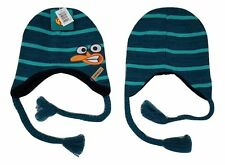 Perry The Platypus Reversible Laplander Hat Winter Cap Licensed NWT