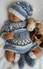 Baby Knitting Pattern DK #60 TO KNIT Baby Boys Girls or Reborn Dolls Romper Set