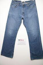 Levi's 527 low bootcut (Cod.N362) Tg.52 W38 L34 jeans usato boyfriend