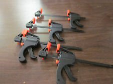"LOT OF ~ 4 ~ 4"" PISTOL GRIP QUICK RATCHET MINI BAR CLAMP REVERSIBLE 7-1/2"" OVER"