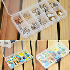 Plastic 10 Slots Compartment Jewelry Necklace Storage Box Case Holder