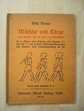 Noten Wolter Märsche und Tänze für 1 oder 2 Blockflöten