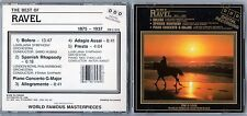 World Famous Masterpieces - The Best of Ravel - Rare Used CD - 1214