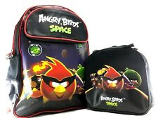 """Rovio Angry Birds Space Boys 16"""" Canvas School Backpack Plus Lunch Bag Set"""
