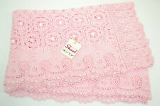 BNWT Japanese Pale Pink Rayon Floral Lace Kimono Scarf/Shawl Party/Races/Wedding