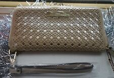 KIM KARDASHIAN KOLLECTION CREAM WITH  GOLD/ CLUTCH / WALLET/ PURSE NEW