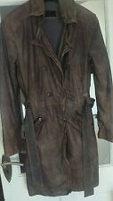 WOMEN'S BUTTER SOFT / DISTRESSED LEATHER MILESTONE COAT LARGE