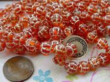 Vintage Czech 8mm Fancy Aged Incised Glass Beads 24