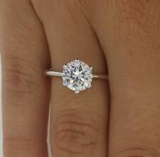 2 Ct Round Cut Diamond Engagement Ring VS1/F 14K White Gold