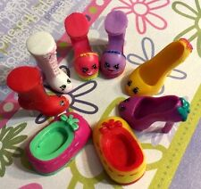 Shopkins Season 3 Shoe set Lizzy Lace Up Anne Wilma and Beverly Heels