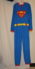 DC Comics Superman Full Suit One Pc Sleepware Lounge Sz M NWT Superhero Costume