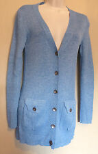Diane von Furstenberg UK8-10 EU36-38 US4-6 blue-mix long-sleeved cardigan