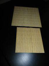 two ) 8'' X 8'' THICK BAMBOO ROLLING MAT  PLAIN  DESIGN