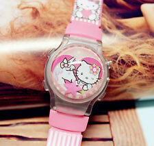 Girl Kid Children Pink Hello Kitty Unicorn Digital Wrist Watch birthday Gift