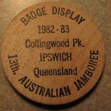 1983 International Badgers Club Jamboree Queensland, Australia Wooden Nickel