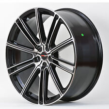 4 GWG Wheels 22 inch Black Machined FLOW Rims fits MERCEDES-BENZ G500 2002-2008