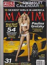 MAXIM MAGAZINE NEW SEALED Dec 2013, PAULINA GRETZKY, FREE 2014 SWIMSUIT CALENDAR