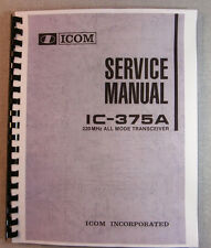 Icom IC-375A Service Manual - Premium Card Stock Covers & 28 LB Paper!