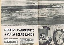 COUPURE DE PRESSE CLIPPING 1957 DAVID SIMMONS l'Aéronaute  (4 pages)