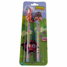 Moshi Monsters. Pencil Set with 3D Toppers. Includes 2 Pencils.