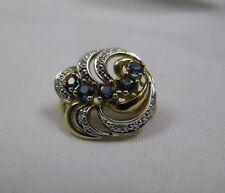 Vecchio Zaffiro Diamante/Brillante Spilla Oro 585