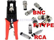 Universal Compression Crimper Tool for Coax RG6 RG59 TV BNC RCA Connectors Plugs