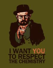 NEW Mens MEDIUM Breaking Bad Walter White Uncle Sam I Want You Army Poster Shirt