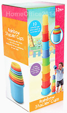 Rainbow Stacking Cups Baby  Child Toy New 12 Months plus