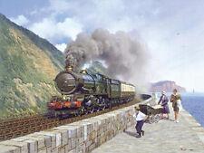 GWR 6000 King George V Railway Engine Steam Locomotive Train Birthday Card