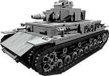 CUSTOM building INSTRUCTION WW2 PANZER IV ver D TANK to build out of LEGO® parts