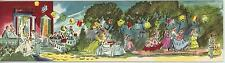 VINTAGE VICTORIAN NIGHT PARTY ORCHESTRA LANTERNS DANCE PUNCH BOWL CARD ART PRINT