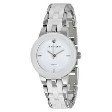 Anne Klein White Dial Stainless Steel and White Ceramic Ladies Watch 1611WTSV