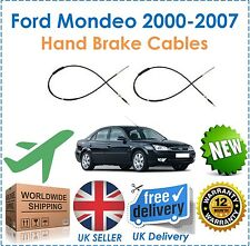 Fits Ford Mondeo MK 3 Hatchback Saloon 2000-2007 Pair 2 Rear Hand Brake Cables!