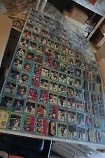 1979-80 Topps Hockey Uncut Sheet of 132 Cards w/ Gretzky Rookie, Creased
