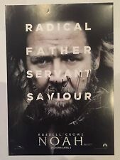 Russell Crowe and Logan Lerman AUTOGRAPHED A4 Noah poster