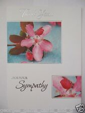 BEAUTIFUL FLOWERS THANK YOU FOR YOUR SYMPATHY GREETING CARD