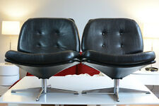 fauteuil 1960 design deco Vintage pied chrome dlgd Knoll internationnal x2 rare