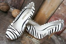 "Buffalo London * High Heels / Pumps * ""Ponyfell"" Zebra * Animal * Party * Gr 36"