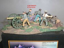 CONTE ACW57119 CONFEDERATE ARTILLERY GUN + CREW METAL TOY SOLDIER FIGURE SET 1