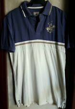 BEVERLY HILLS POLO CLUB MEN'S POLO, BLUE Size Small