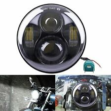 """5.75"""" 5 3/4 LED Motorcycle Headlight Daymaker Black Projector for Harley"""