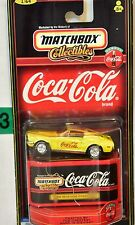 MATCHBOX COLLECTIBLES COCA COLA 1968 FORD MUSTANG COBRA JET YELLOW