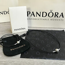NEW PANDORA double Essence Collection Silver clip Bracelet/ Choker 100% Genuine
