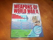 WEAPONS OF WORLD WAR II Compared and Contrasted Planes Tanks Ship Guns Book NEW