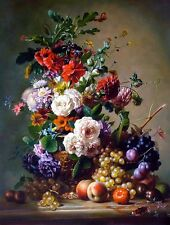 "Art Print Still life Flower Oil painting Picture Printed on canvas 16""X20"" P117"